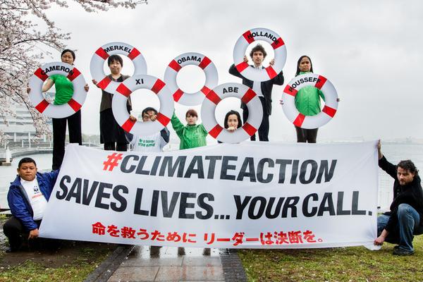 IPCC横浜会議に際し、気候変動対策の強化を求める市民